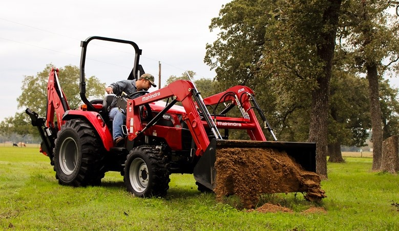 Mahindra tractor at work on the farm
