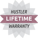 Hustler zero turn mowers come with a lifetime warranty